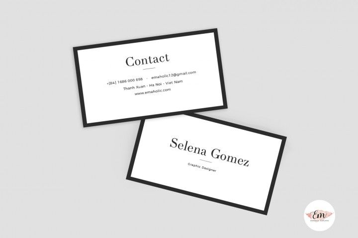 Classic Business Card Template By Emaholic Templates Classic Business Card Business Card Template Cards