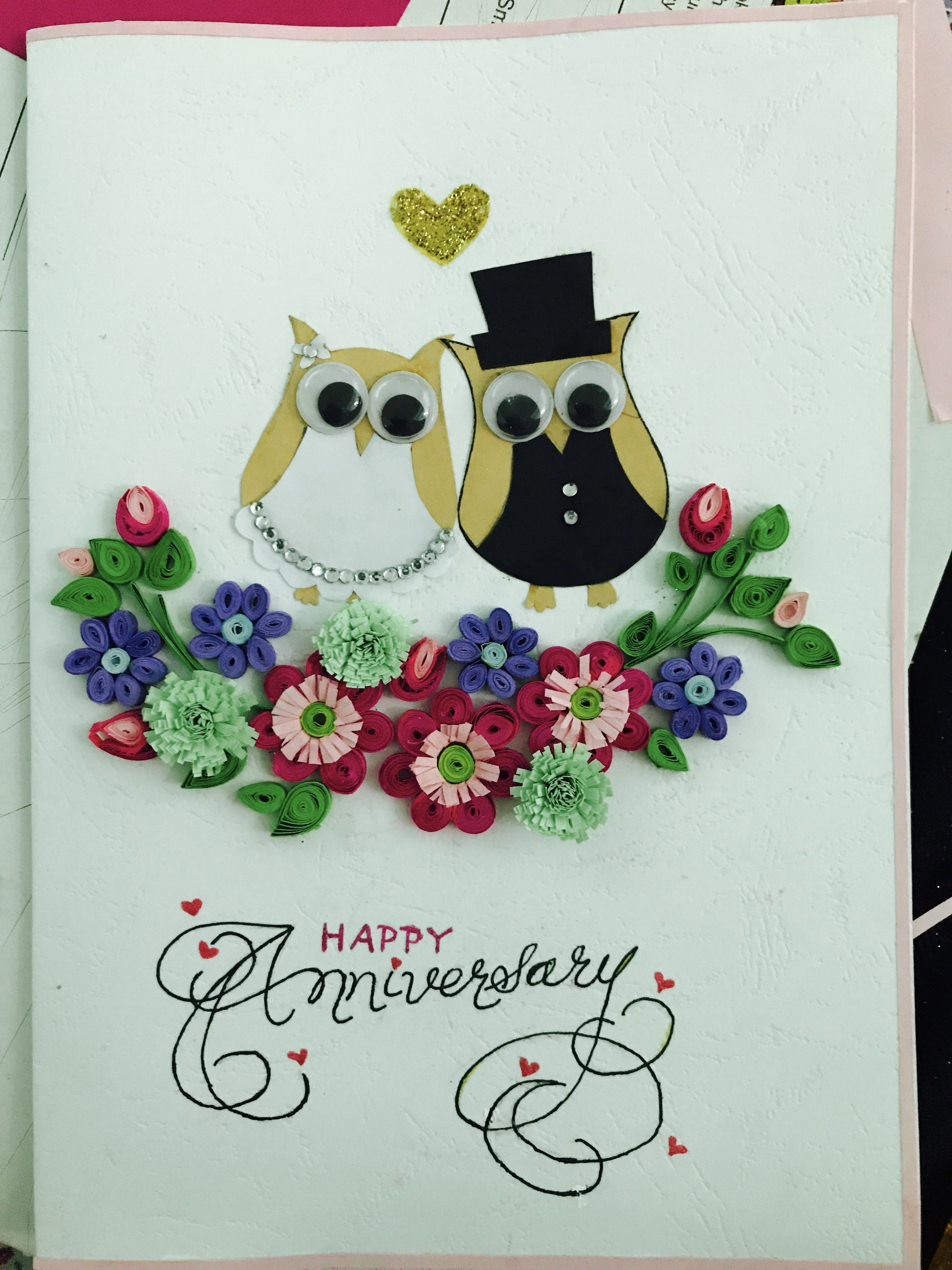 Paper Quilling Wedding Anniversary Card For Husband Anniversary Cards For Husband Wedding Anniversary Cards Anniversary Cards