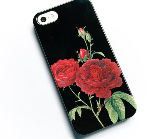 coque iphone 6 fleur rose rouge