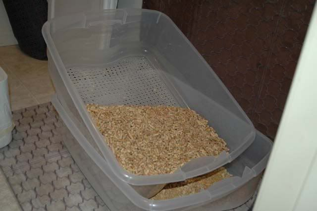 Home Made Sifting Litter Box For Use With Wood Stove Pellets