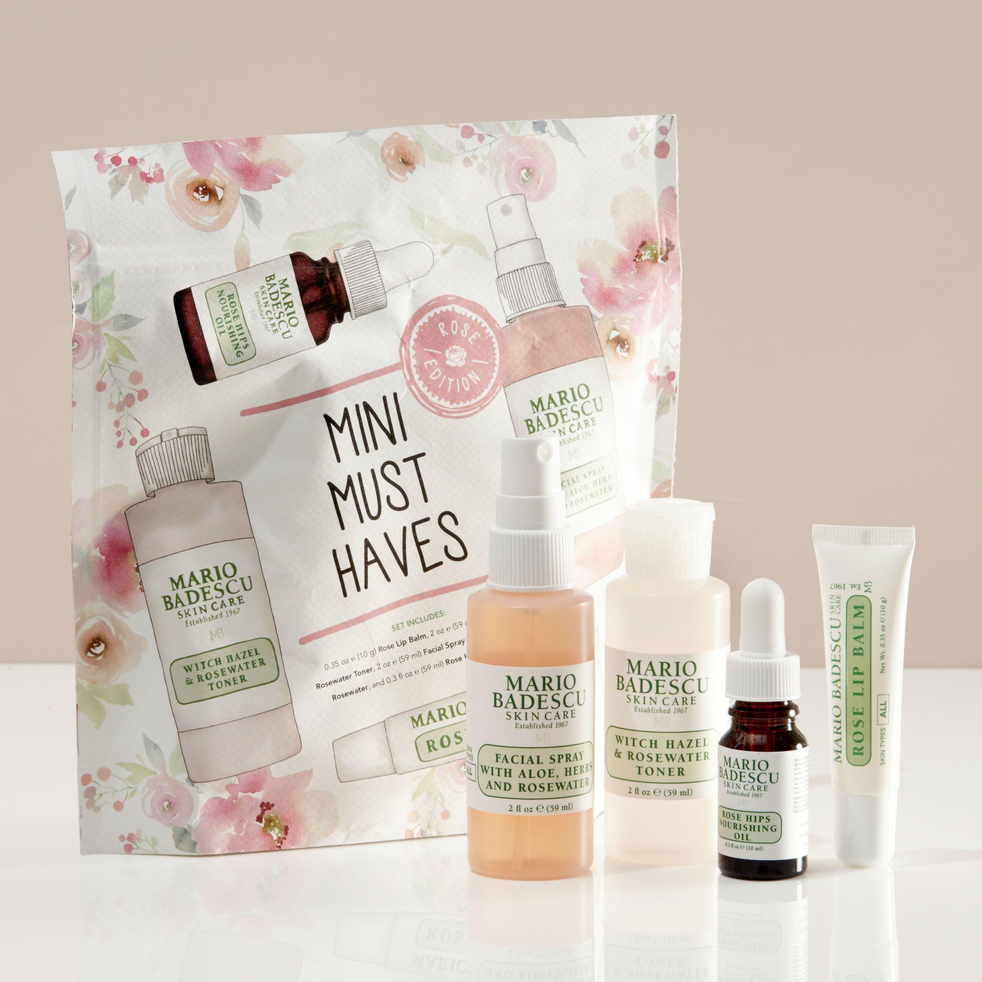 Mario Badescu Mini Must Haves Set Rose Edition Skin Care Skin Care Kit Mario Badescu