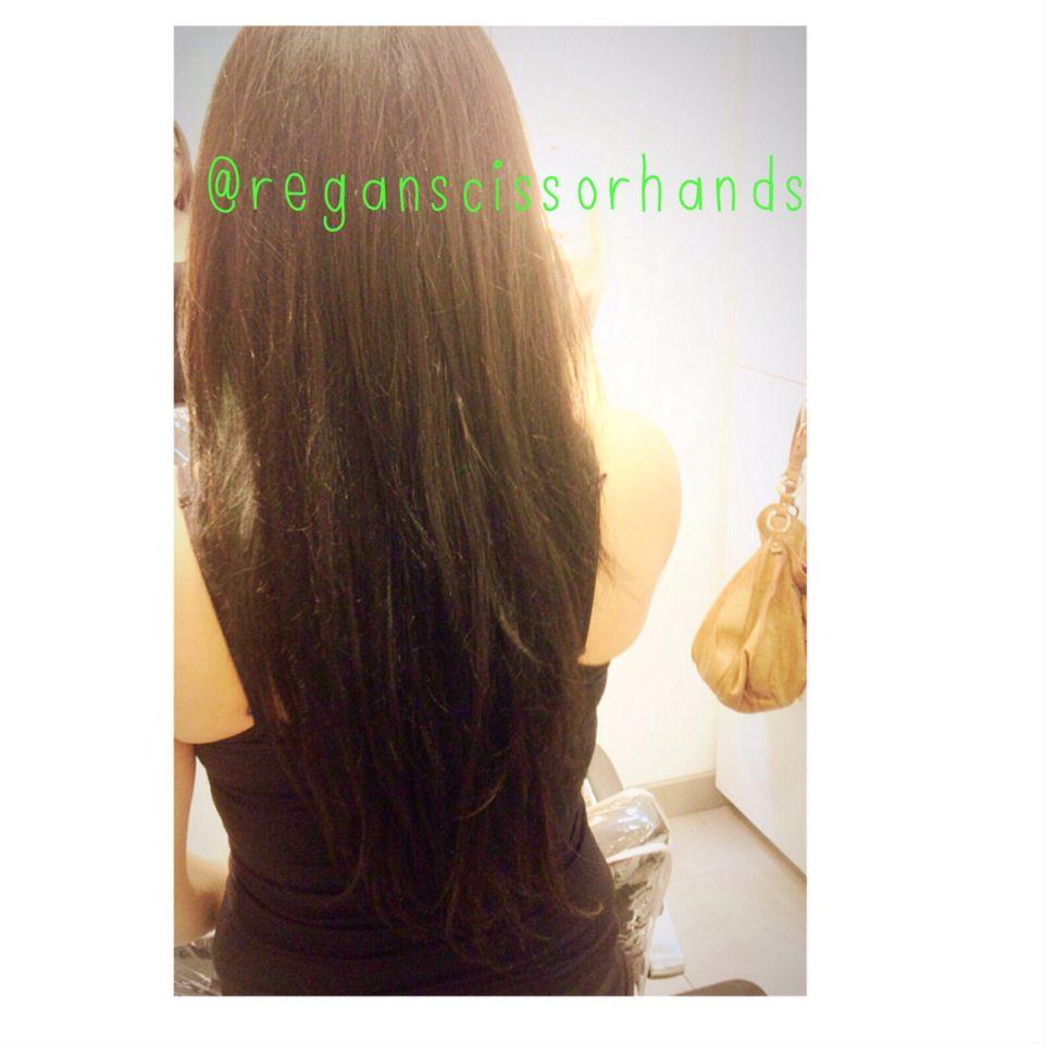 Shoulder length ue long with extensions in las vegas regan