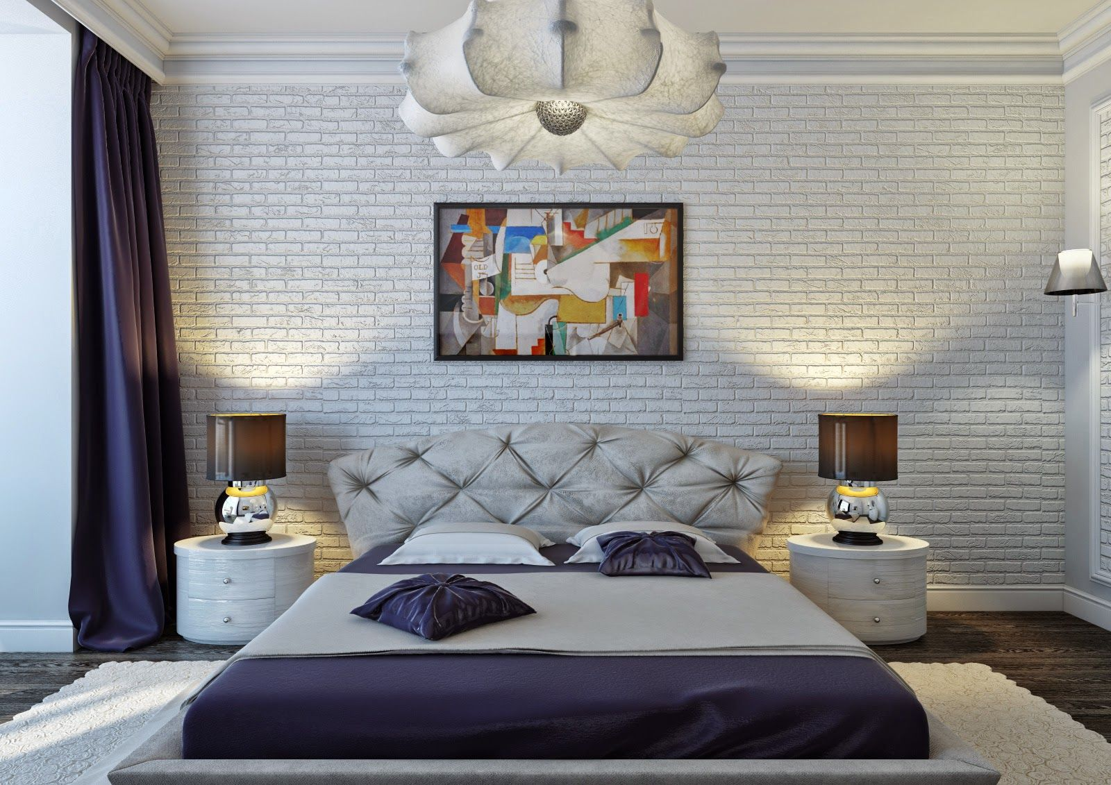 spanish style bedroom interior with brick wall and luxury spanish furniture accessories 2015