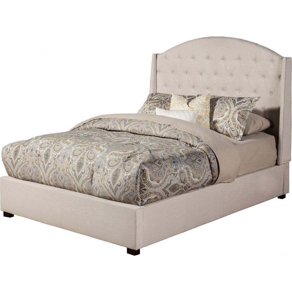 Alpine Furniture 1085f Ava Full Tufted Upholstered Bed In Diver