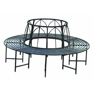 Napco Metal Tree Hugger Plant Stand Bench 572 Patio Benches