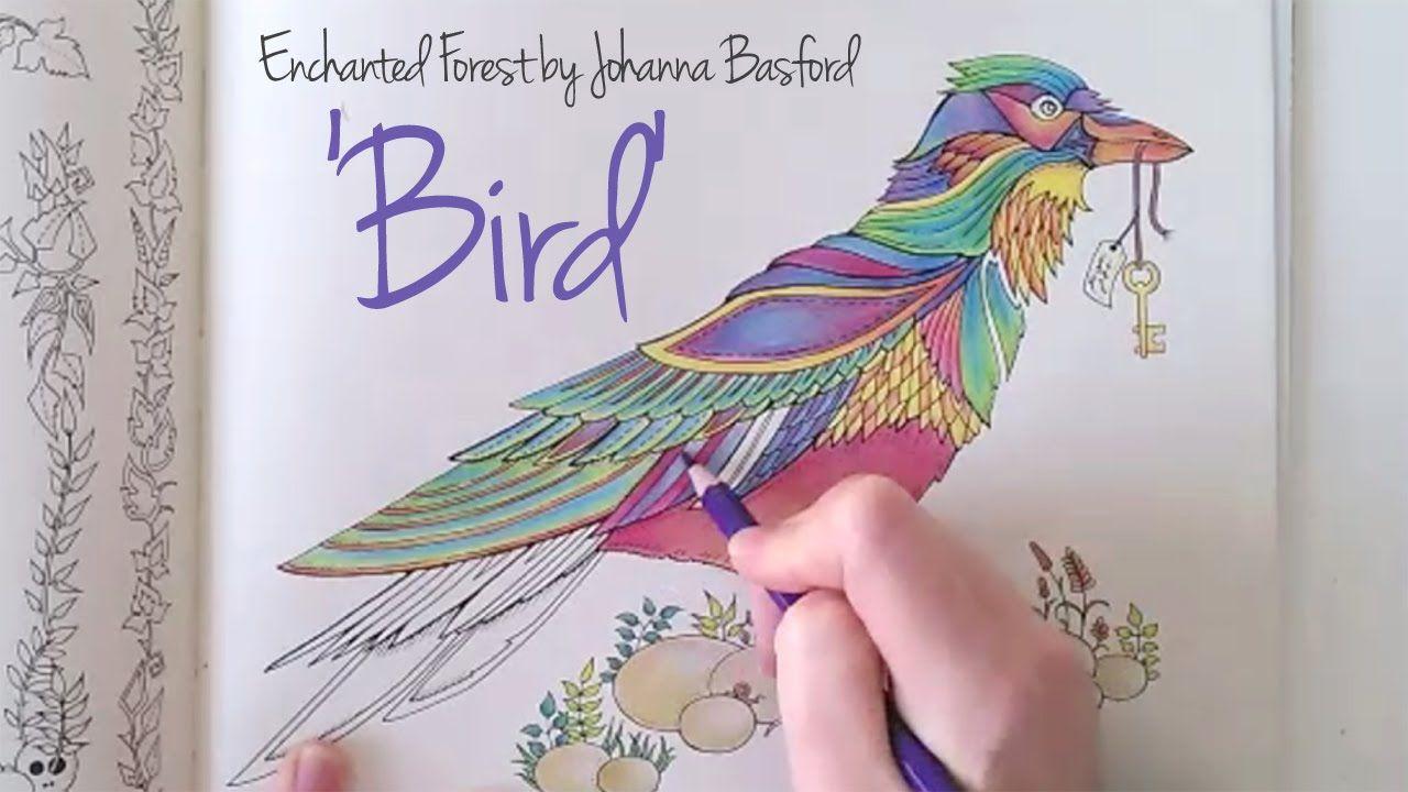 Zendoodle coloring enchanting gardens - Enchanted Forest Johanna Basford Bird