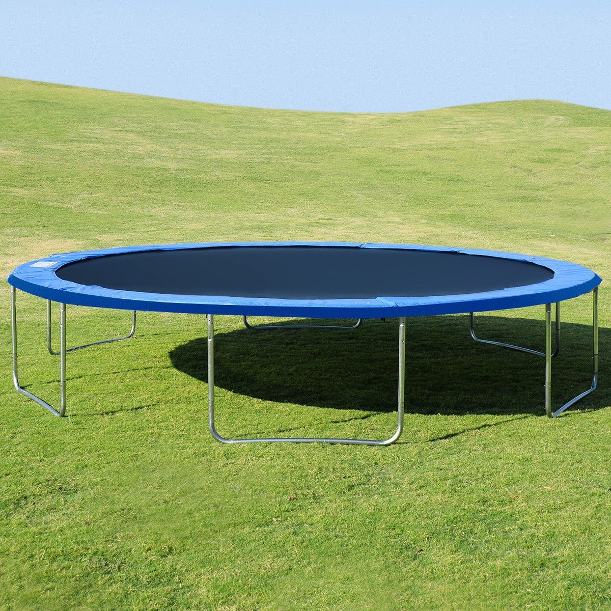 16 trampoline combo with safety enclosure net spring pad