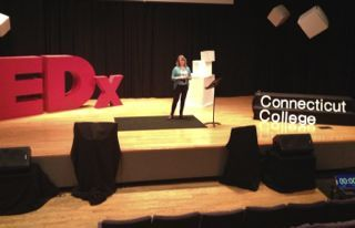 This is me at TEDx Connecticut College in April 2013. Accomplishments—now that's inspiring!