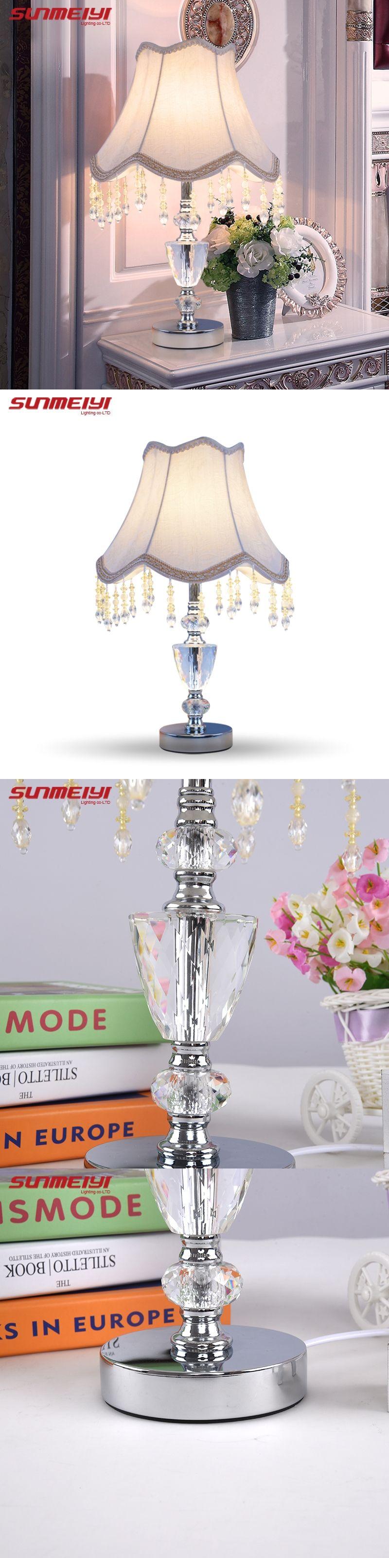 Desk Table Lamp crystal K9 home lights decor table lights bulb lamp ...