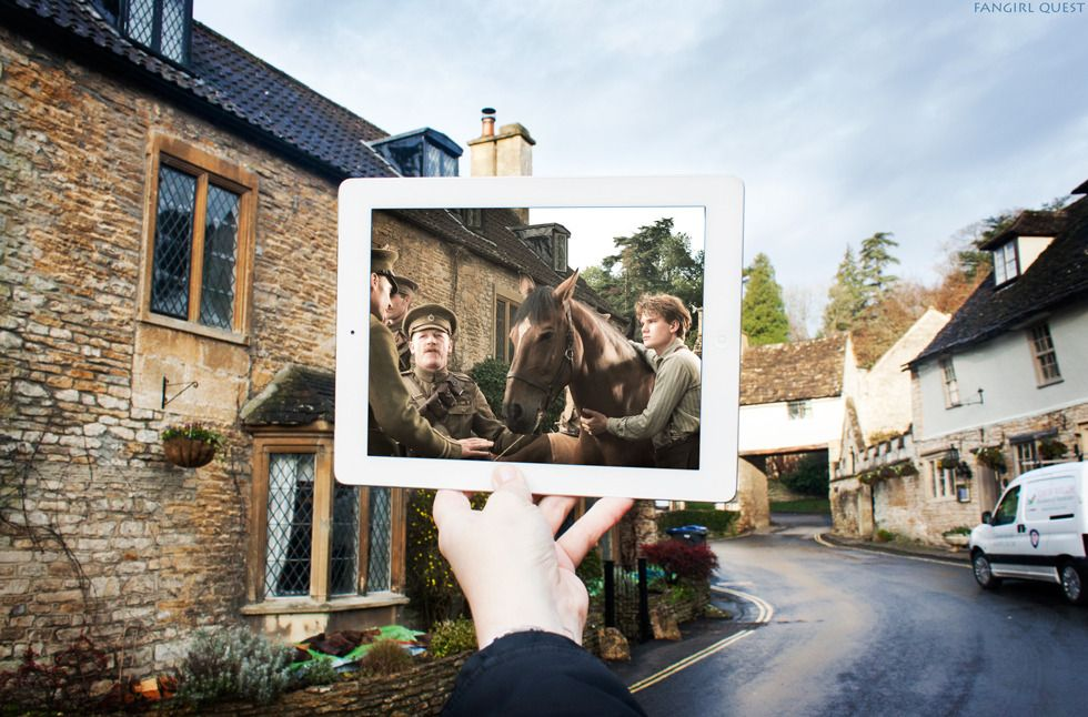 Movie War Horse Location Castle Combe Uk On Google Map Nothing Is As Cute And Serene As This Little Stonehouse Vill Castle Combe Castles In England Castle