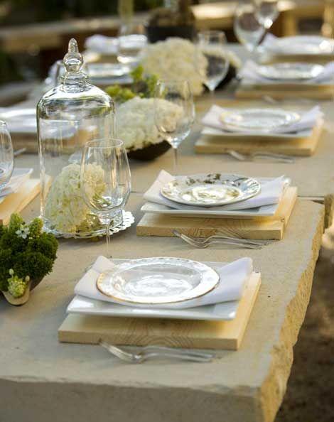 mesa de jardin piedra con en tablas excelente