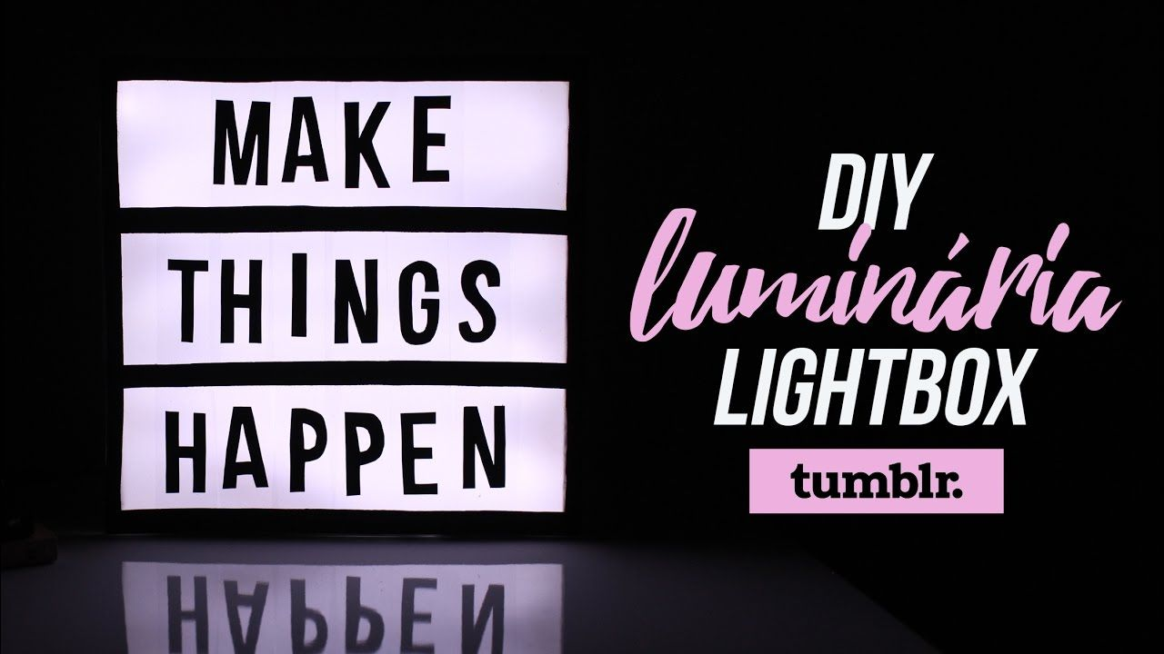 Diy Light Box Tumblr Decor Luminária Led Frase Tumblr
