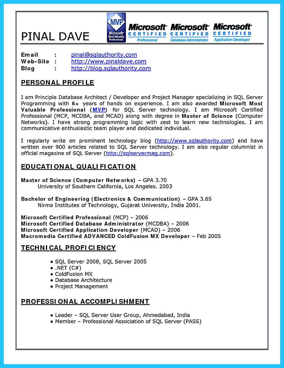 nice High Impact Database Administrator Resume to Get