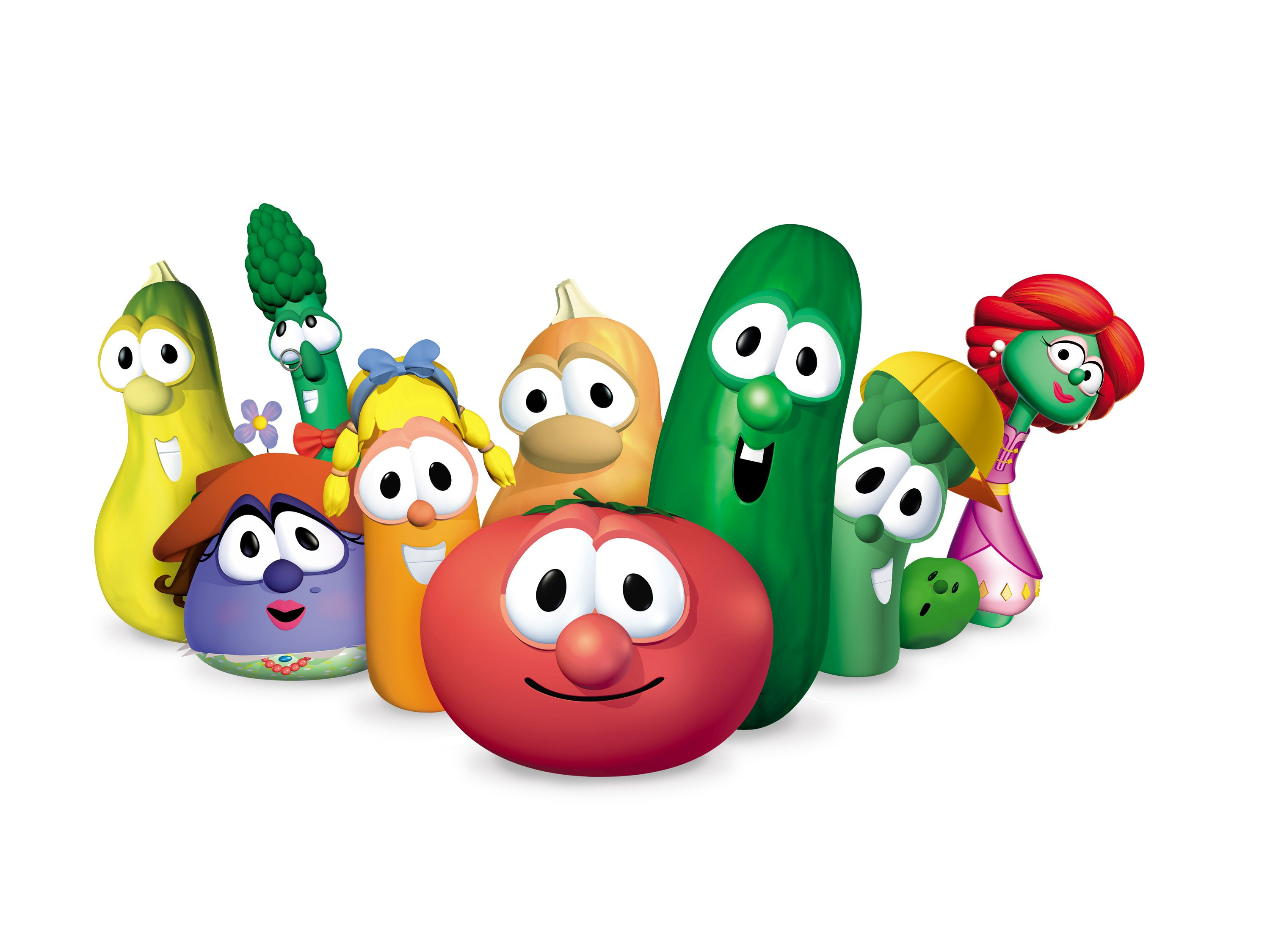 Goliath Veggie Tales Cake Toppers