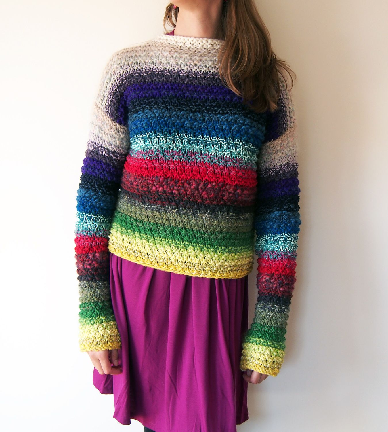 Dayana Knits: There Was A Whole Pullover In There?? Using Scraps For ...