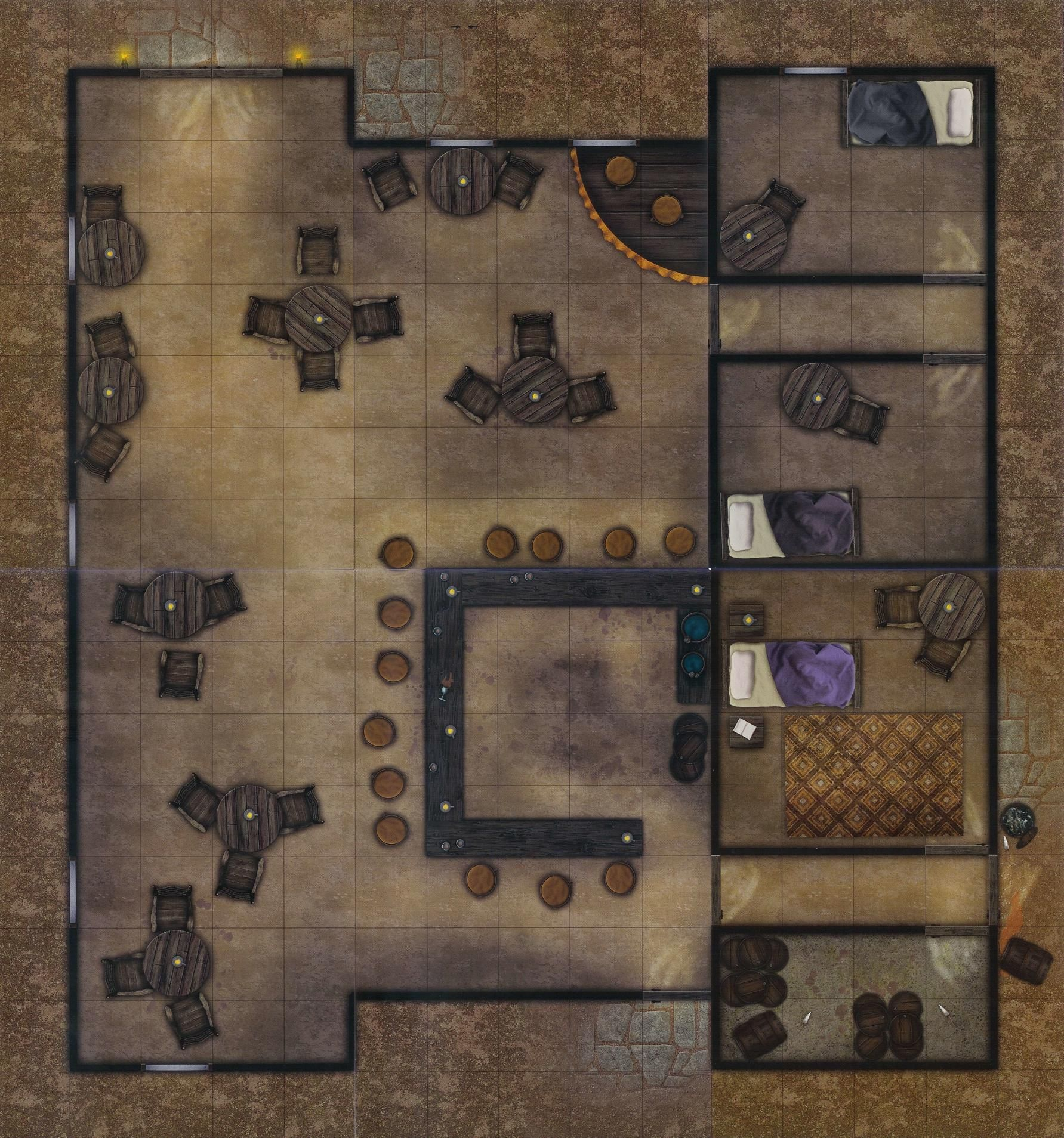 Fantasy Tavern in 2019 | Pathfinder Maps Roll20 | Fantasy map ... on