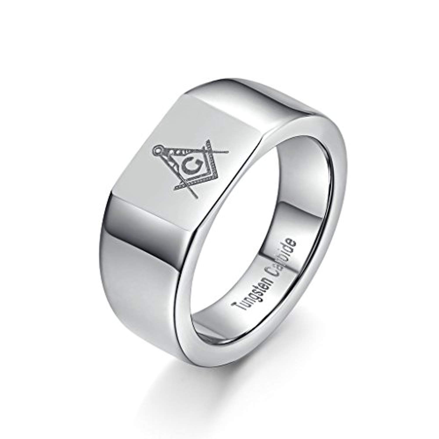 Men's Freemason Masonic Laser Tungsten Carbide Wedding Band Sig Ring For More Information Visit Image Link This Is An Affiliate: Masonic Wedding Band Anium Ring At Reisefeber.org