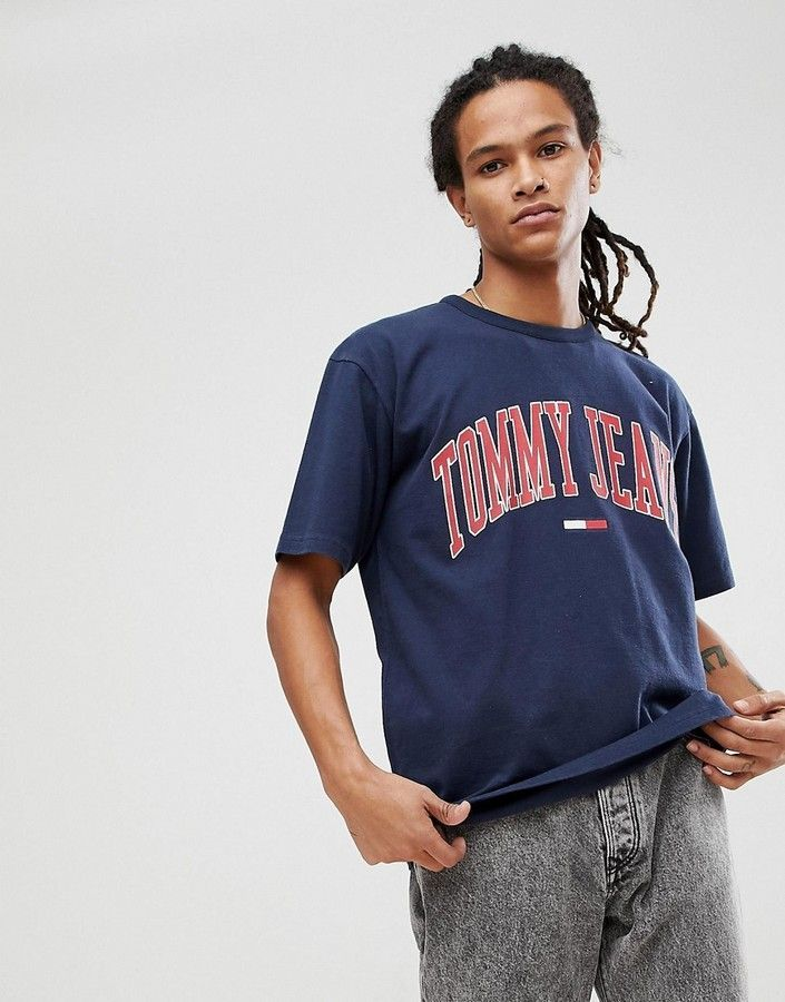 31ea3f886 Tommy Jeans Collegiate Capsule T-Shirt in Navy | Products | Hilfiger ...