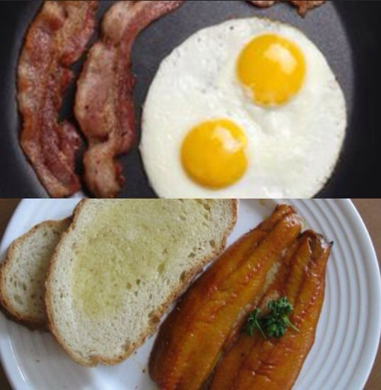 Bacon eggs and kippers for breakfast when hermione gets her hate mail