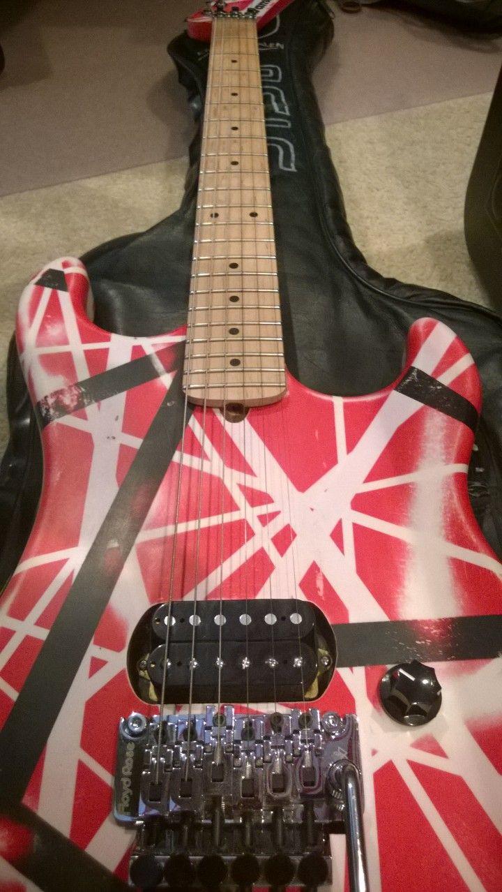 My 1991 Evh Custom Kramer 5150 By Mean Street Guitars With Original Floyd Rose And Holy Grail Hockey Stick Headstock Out Guitar Eddie Van Halen Cool Guitar