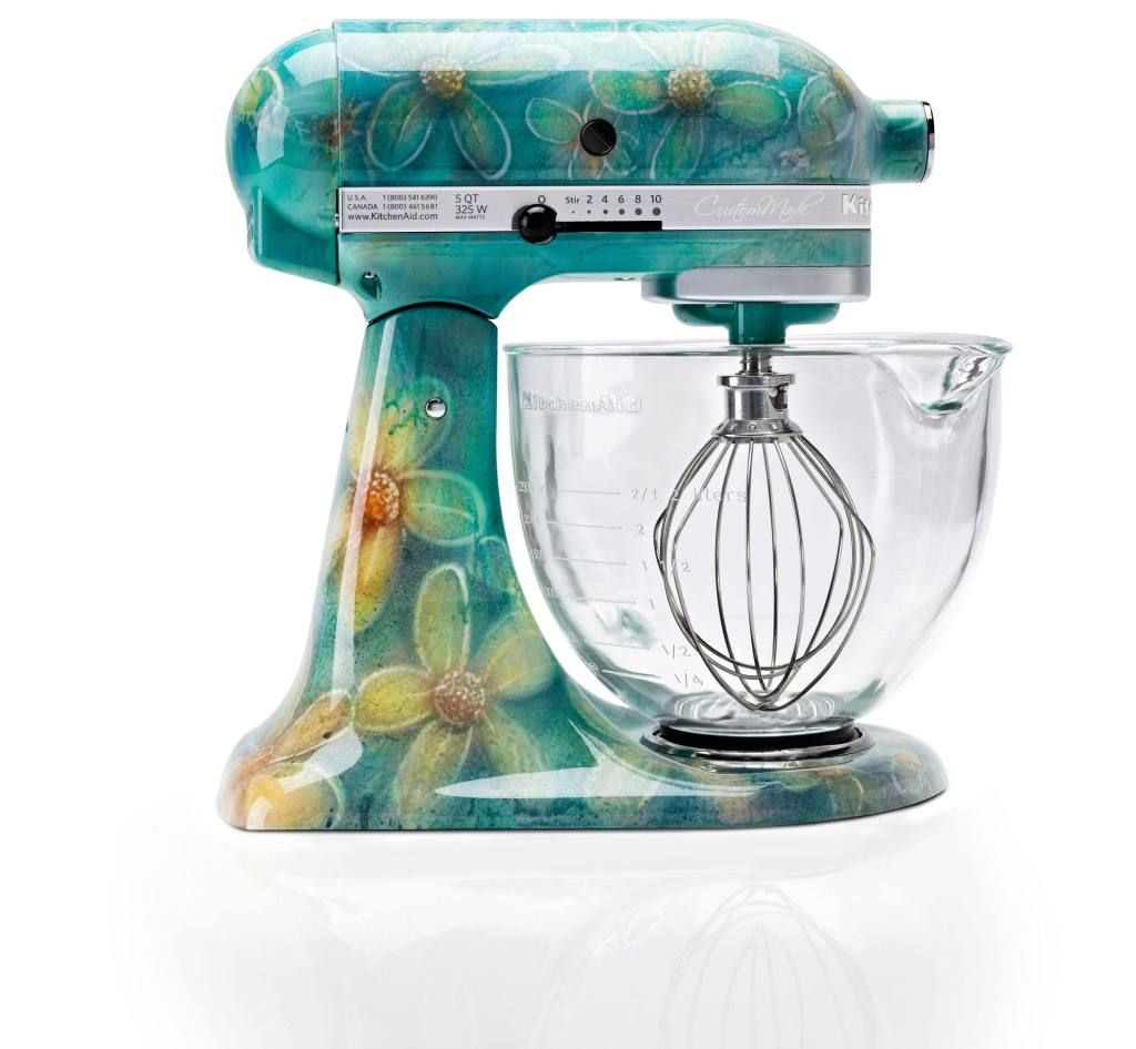 Küchensachen Custom Hand Painted Kitchen Aid Mixer Un Amore By Nicole