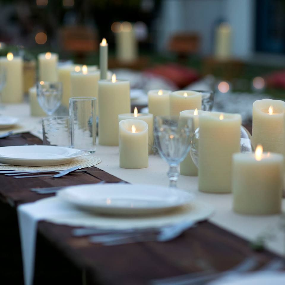 10 Romantic Flameless Candle Wedding Centerpiece Ideas Candle