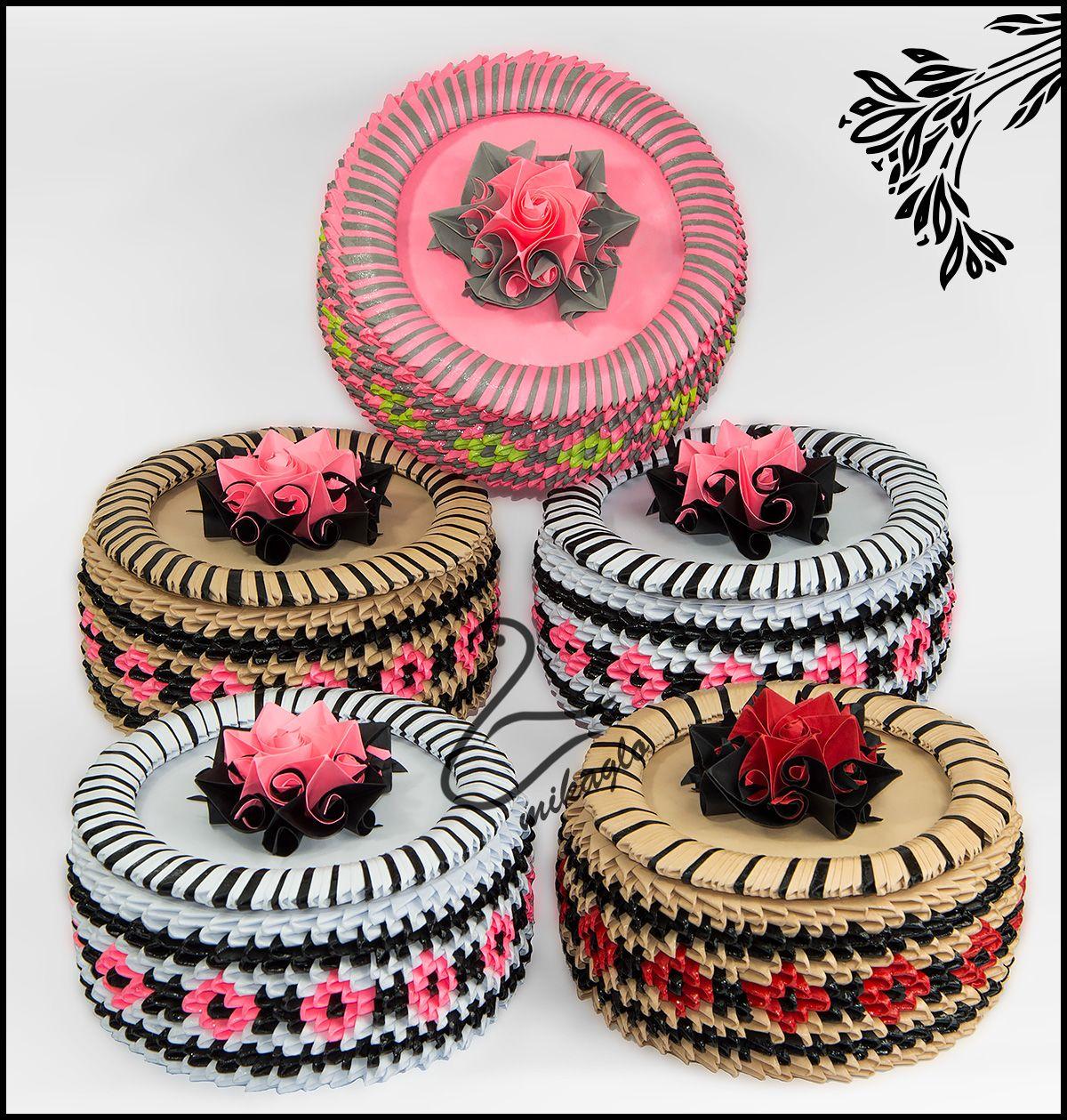 Flower boxes tutorial -> mikaglo.blogspot.com | 3d origami ... - photo#44
