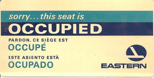 Carta que se solia poner en los asientos. Eastern Airlines memorabilia by david haggard, via Flickr
