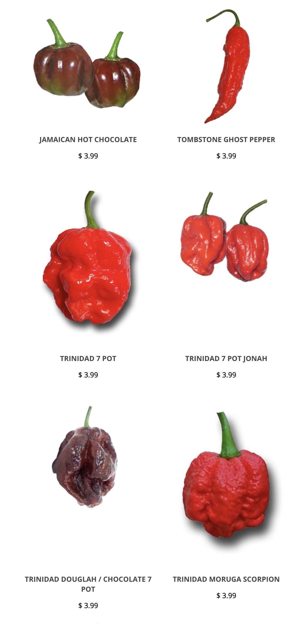 Carolina Reaper Yellow Hot Pepper Organic Non-GMO 12 Seeds