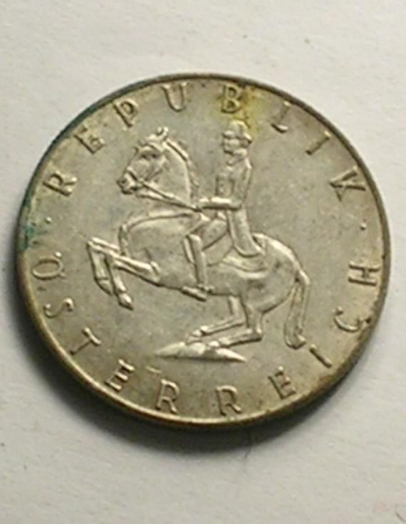 Austrian 5 Schilling Coin Republik Osterreich Dated 1961 Made Of