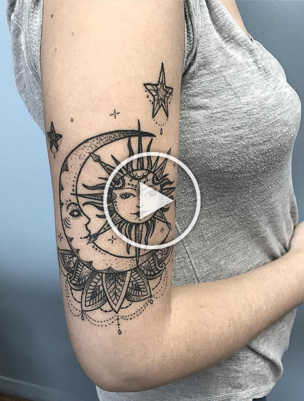 50 Meaningful and Beautiful Sun and Moon Tattoos Sun and