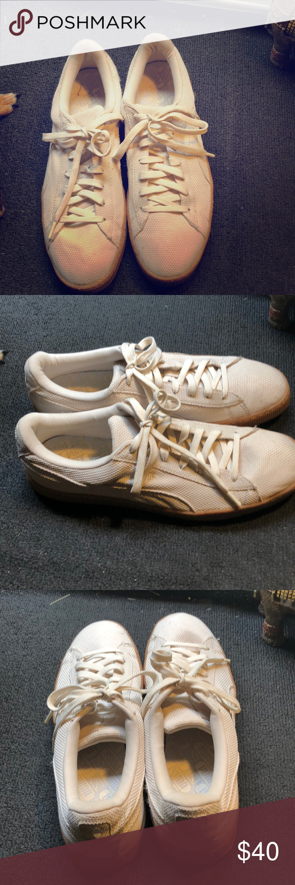 a2837b0e90f Puma Basket mens Mens Puma Basket Ripstop Ice Cream pack White swan Puma  Shoes Sneakers