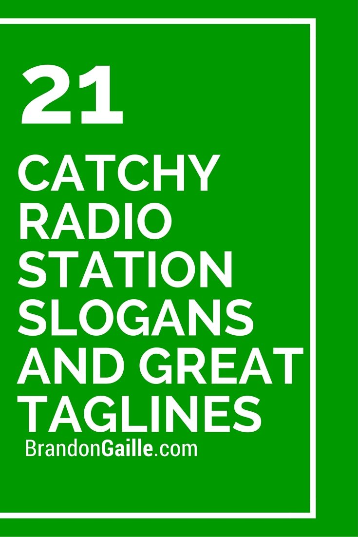 Catchy Radio Station Slogans and Great Taglines