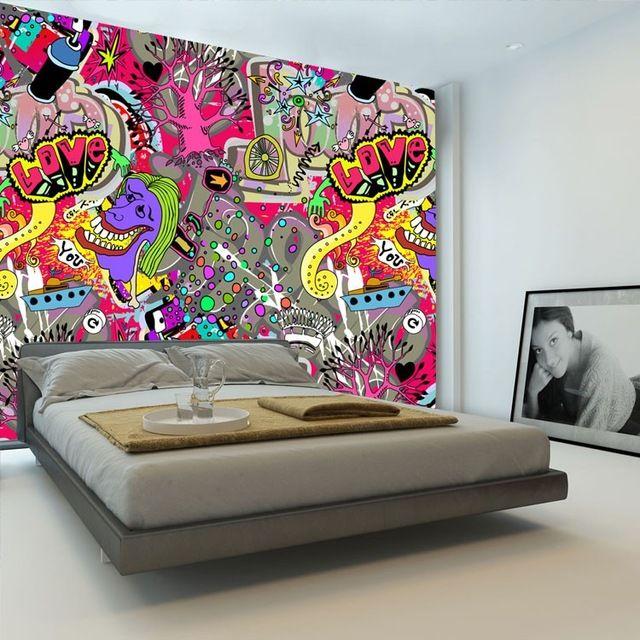 Graffiti Boys Urban Art Wallpaper 3d Photo Wallpaper