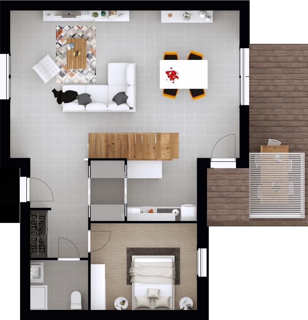 Plan gratuit maison demi niveau