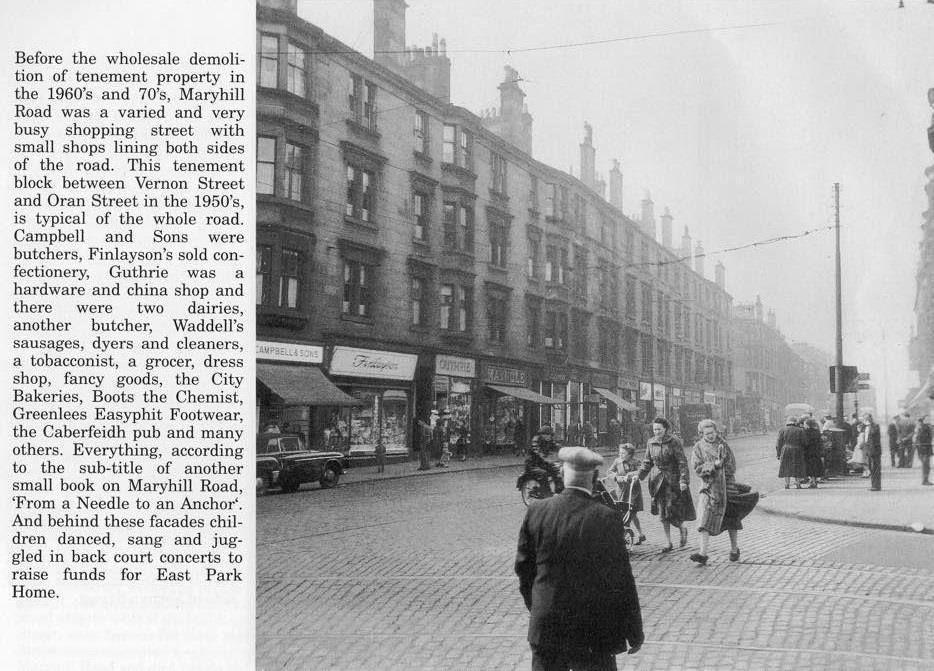 Maryhill Maryhill Road Photo Dated 1950s Glasgow Scotland