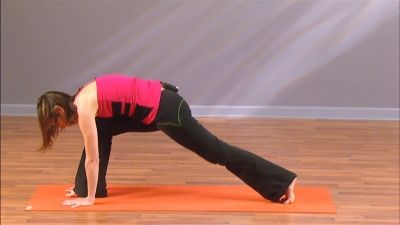 the secret to stepping into a lunge from downward facing