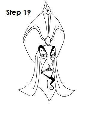 Jafar alladin how to draw in 2018 pinterest dessin dessins - Dessiner aladin ...