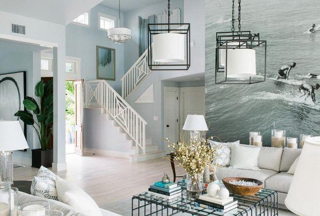 Hgtv Dream Home 2016 Foyer Paint Color Is Glidden Quiet Rain Trim White Gliddenquietrain Gliddenwhite