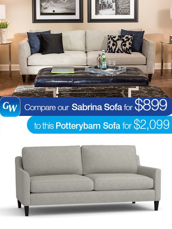 Sabrina Sofa Faux Leather Cover Looks For Less Save 1 200 With Our Pinterest Buy