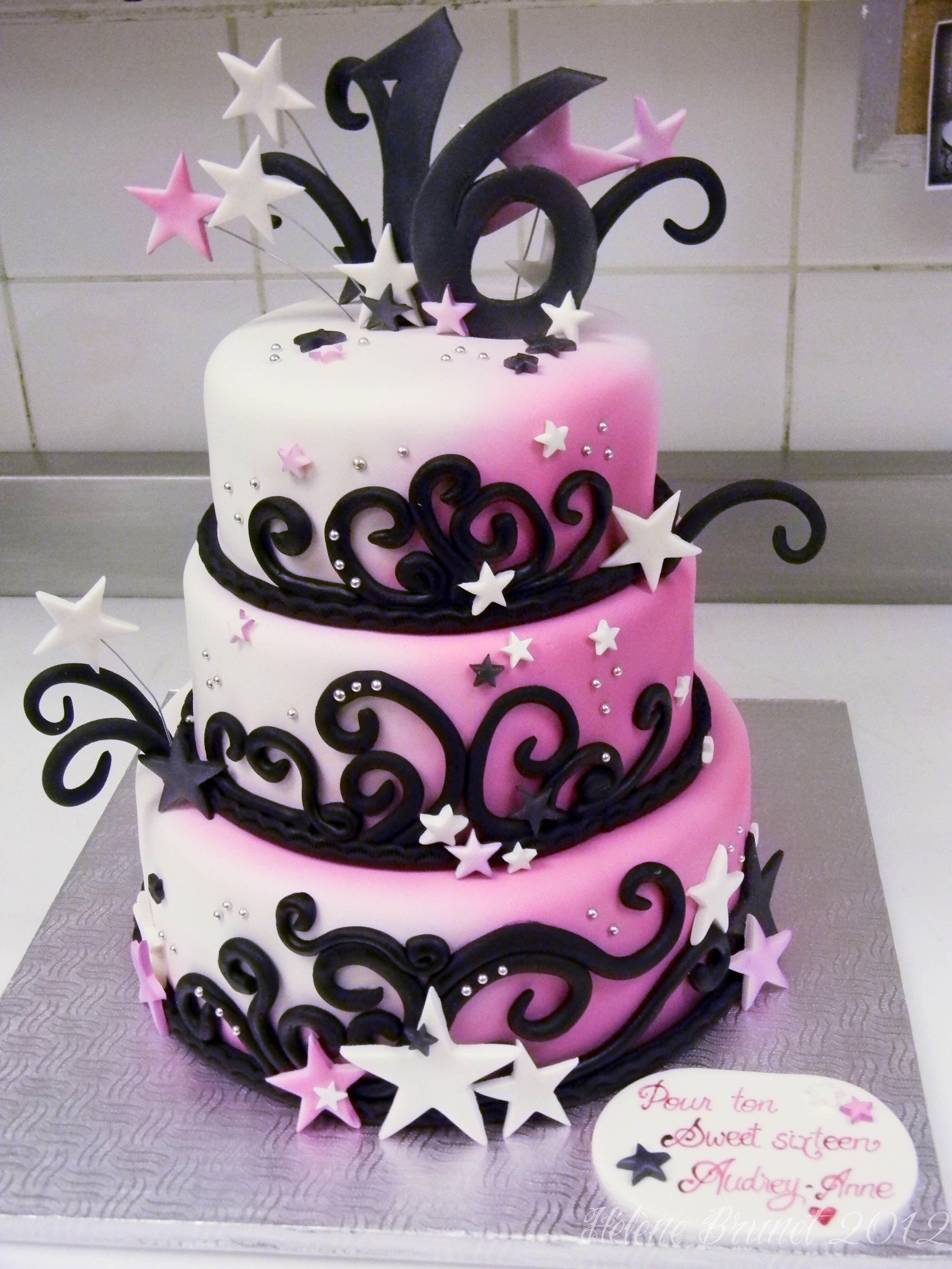 Sweet Sixteen Birthday Cake With Images Sweet 16 Birthday Cake