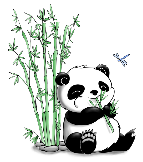 Panda Eating Bamboo by artshell on DeviantArt