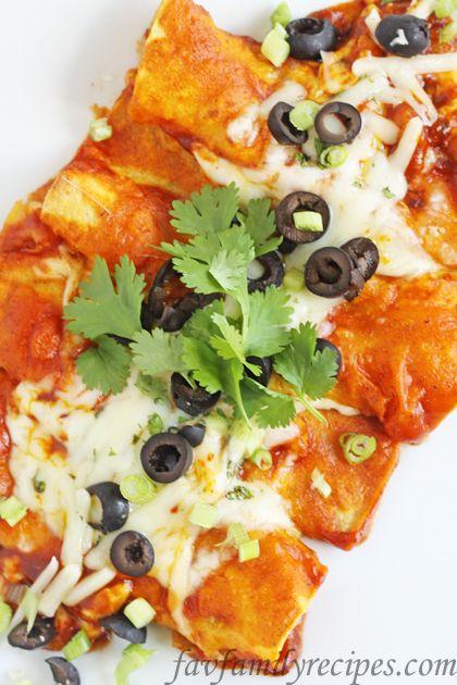 Cilantro lime cheese enchiladas (vegetarian)