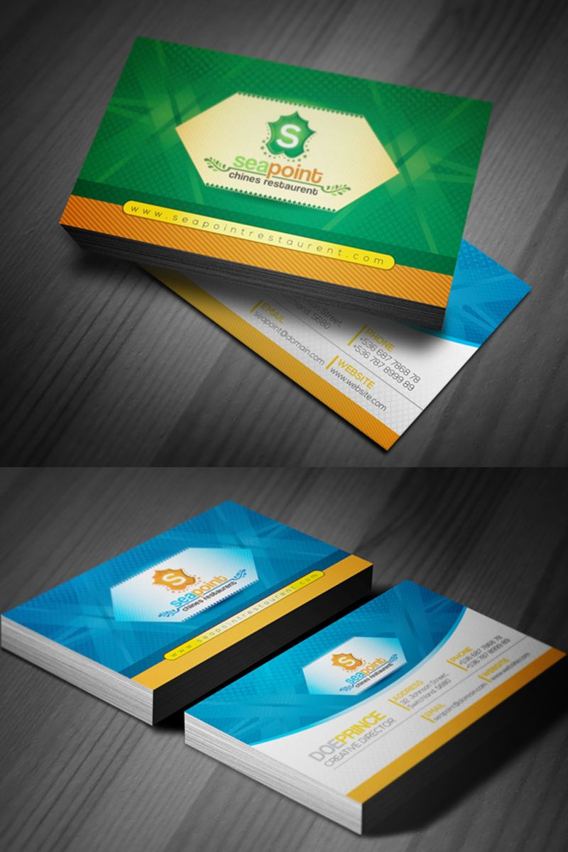 Business Card For Hotel And Resort Corporate Identity Template Hotel Card Busines Hotel Card Business Cards Creative Templates Business Card Template Design