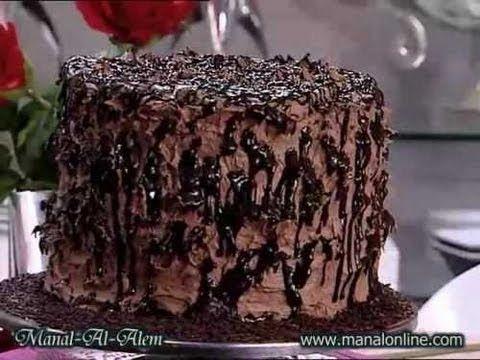تورتة الشوكولاتة العالية منال العالم Chocolate Cake Desserts
