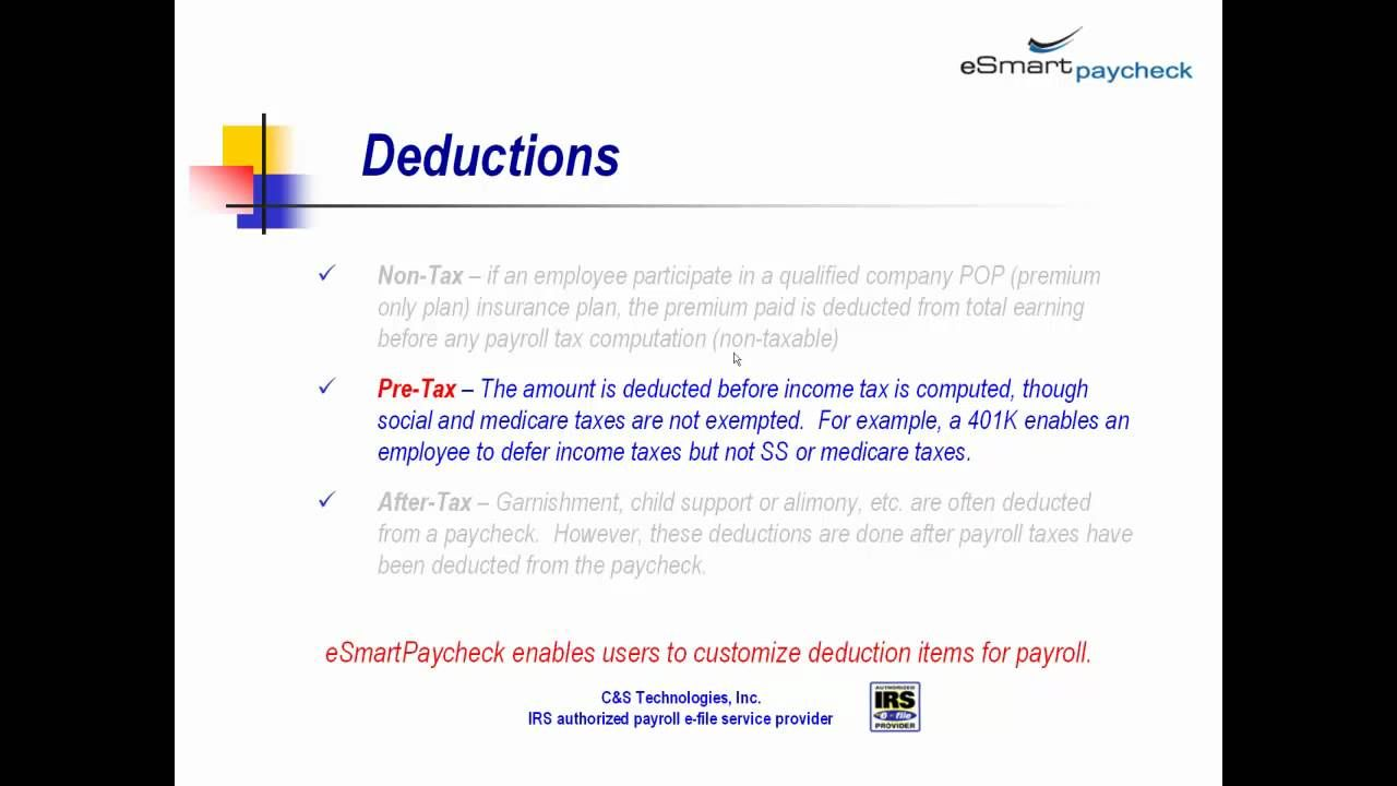 Paycheck And Payroll Tax Calculation  Bussiness