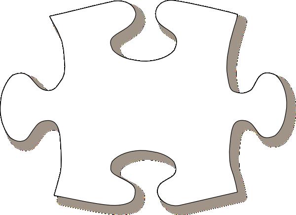Puzzle Piece Template Jigsaw White Puzzle Piece Large Shadow Clip Art Clip Art Puzzle Piece Template Puzzle Pieces