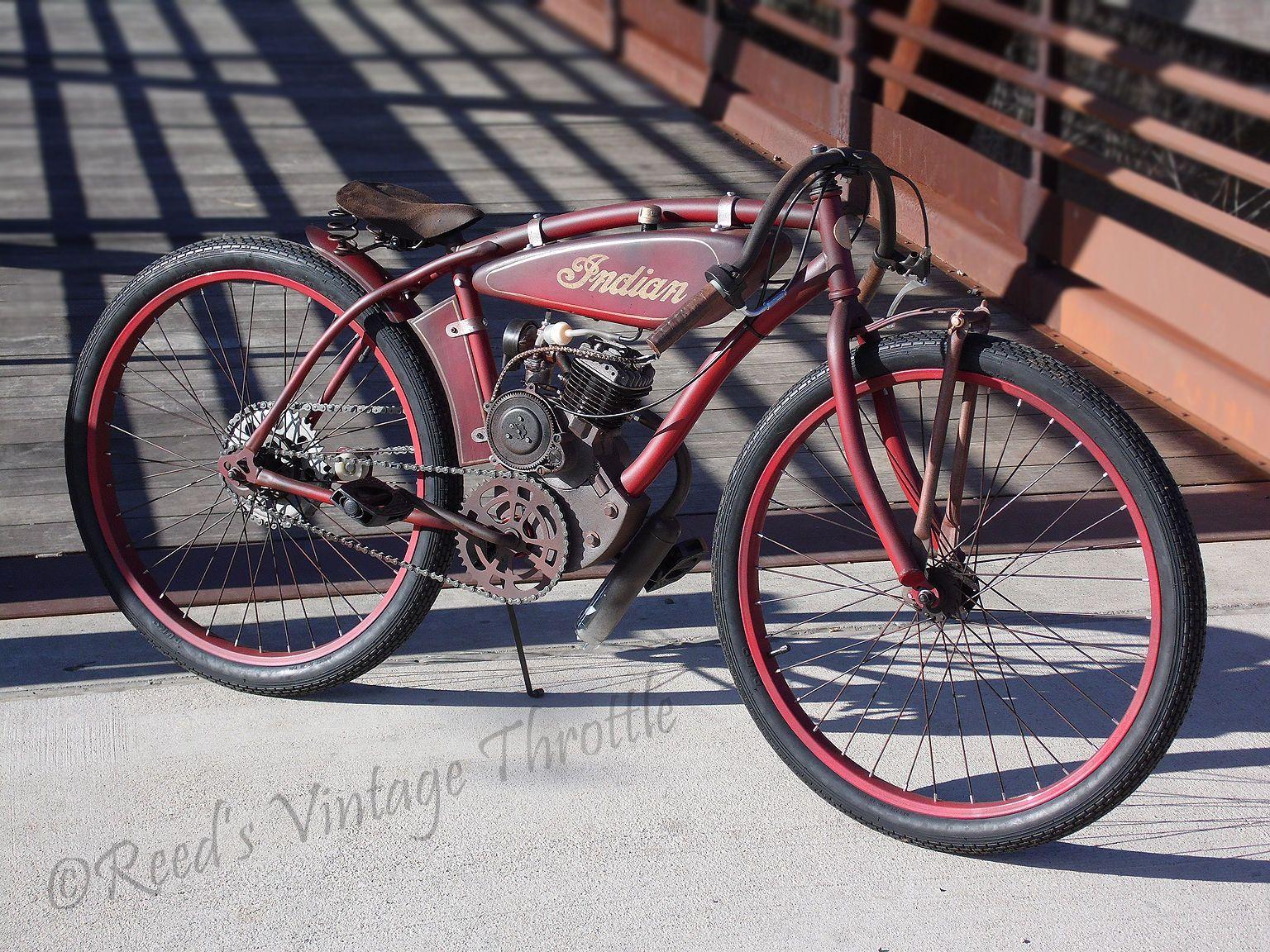 Indian Board Track Racer Antique Vintage Cafe Pre War Bicycle Harley Davidson