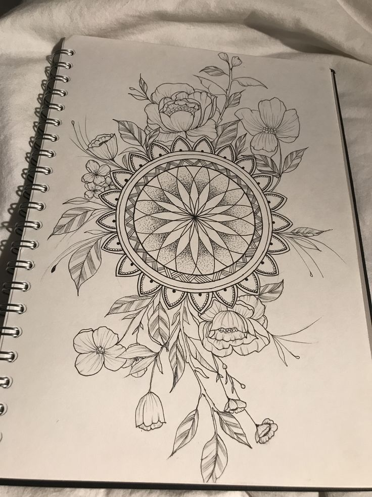 Photo of Mandala mit Blumen #Speisen #Spinnen # Blumen #mandala #tattoo #,  #blumen
