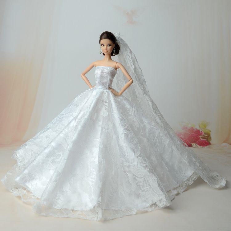 Princesa Casamento Roupas Originais Para Barbie Doll Criancas